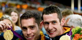 Ireland's Jason Smyth and Michael McKillop showing off their Gold Medals won at the London 2012 Paralympics
