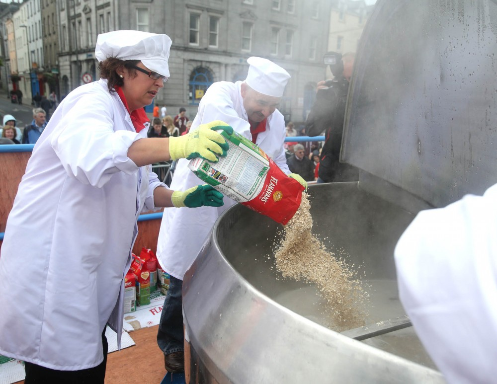 The World's Biggest Bowl of Porridge being created at Waterford Harvest Festival 2012