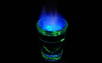 Shot of Flaming Sambuca
