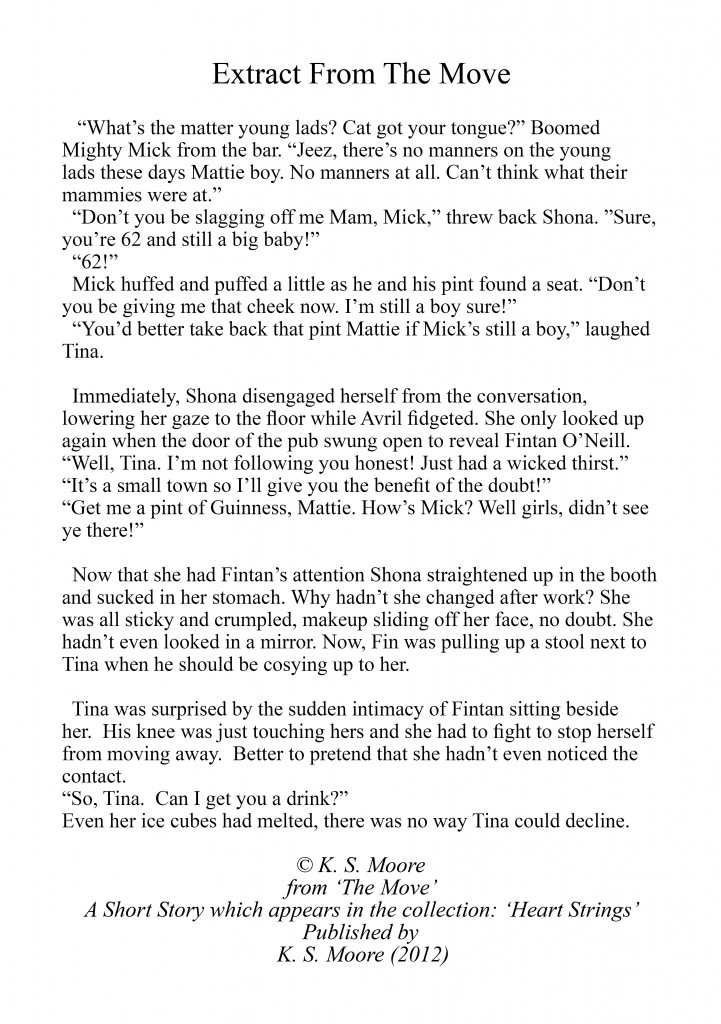 Extract from The Move, a Short Story from the collection: Heart Strings by K. S. Moore