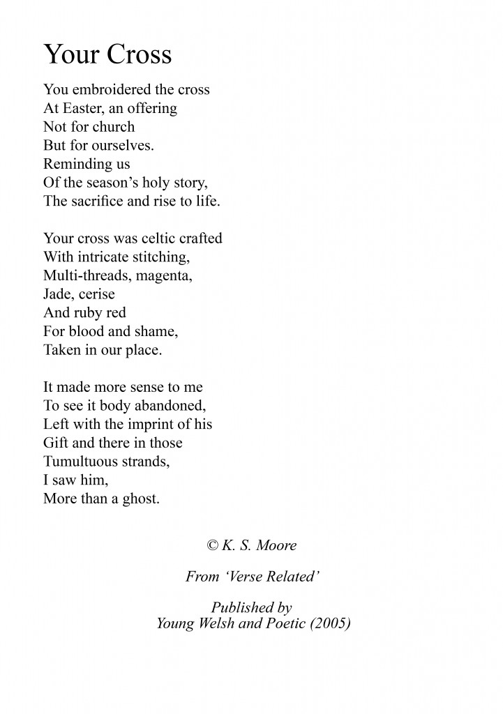 Your Cross, an Easter poem from the collection: Verse Related by K. S. Moore
