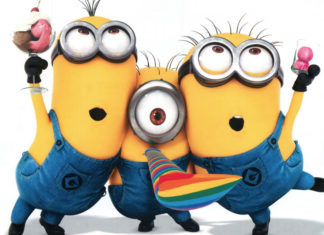 Partying with the minions!