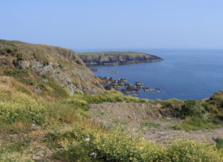 Glorious sea view near Kilmurrin Cove.