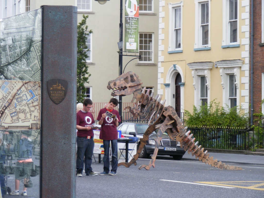 Just hanging out at the Mall, Waterford, with your local T-rex!