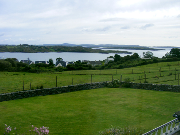 View from Stanley House B&B, in Schull, West Cork.