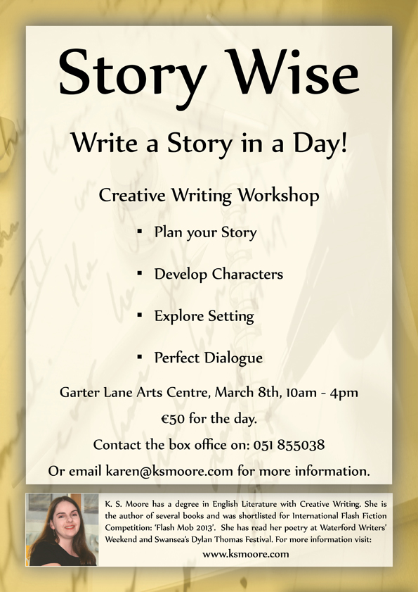 Story Wise Creative Writing Workshop at Garter Lane Arts Centre