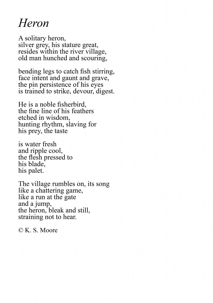 Poem by K. S. Moore.