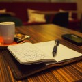 writing plus coffee.