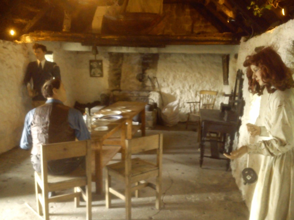 Inside The Quiet Man House, at Maom Cross, Connemara.