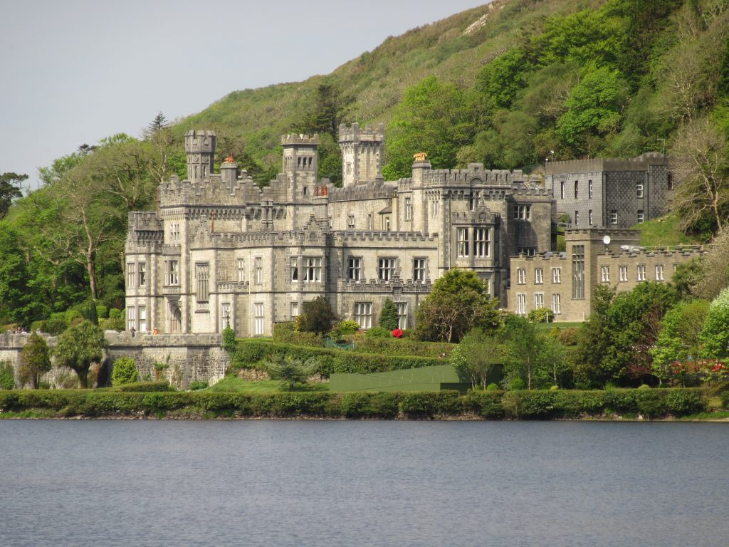 The romantic and inspired architecture of Kylemore Abbey in Connemara, County Galway.
