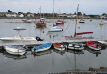 Fishing boats at Dungarvan.