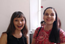 Anne Casey and K. S. Moore at the launch of 'out of emptied cups'