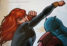 Black Widow in battle.