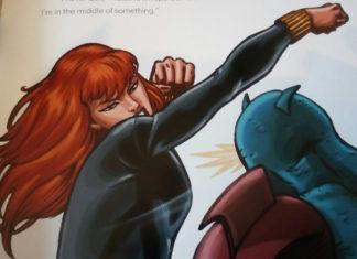 Black Widow in battle.
